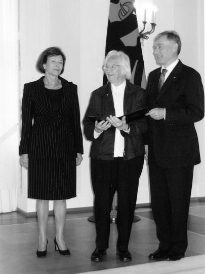 Renata Zuckerriedel erhielt 2008 das Bundesverdienstkreuz Foto: Archiv ELBHANG KURIER