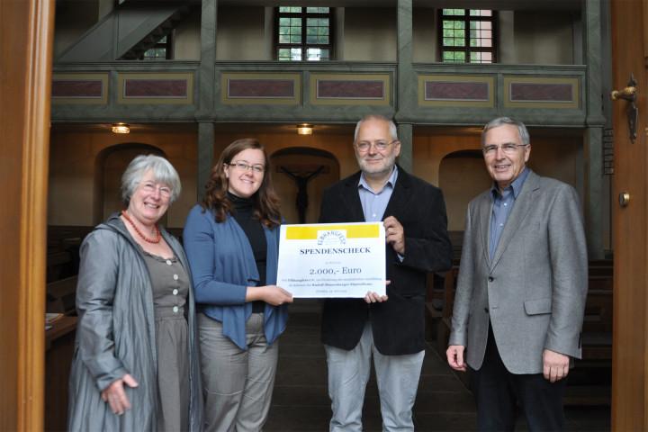 Angelika Weber, Mandy Mitter, Prof. Reinhold Uhlig und Gerhardt Uhle. Foto: Ulrike Schüler