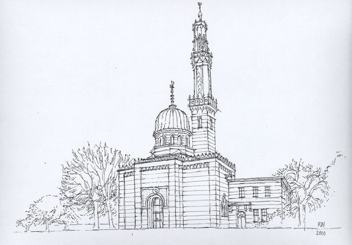 """Ruth Wagner, """"Potsdam, Dampfmaschinenhaus · Moschee"""" 13. August 2000"""