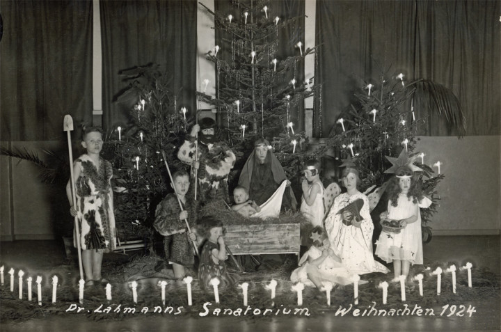 """Weihnachten in Dr. Lahmanns Sanatorium"""", 1924. Sammlung Ortsverein Loschwitz-Wachwitz"""